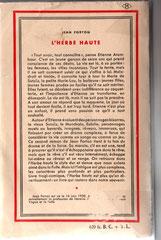 Édition originale de L'Herbe haute 4e couverture. Cliquez sur l'image pour l'agrandir.