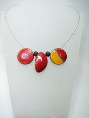 acheter ce collier bicolore en ceramique raku
