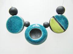 fiche descriptive du collier bicolore céramique raku