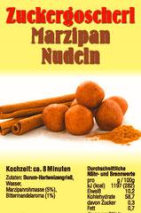 Marzipan Nudeln Etikett