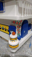 houten nestkastje beschilderd Grieks huis Bakery persoonlijk_3