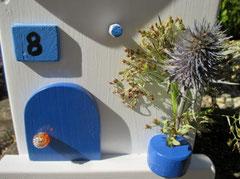 Houten Nestkastje , Grieks Nestkastje met Huisnummer , Details, Vogelhuisje bouwen ,  Grieks vogelhuisje met huisnummer , Huisjes details