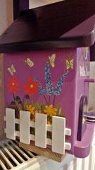 houten nestkastje beschilderd Villa Manon_4
