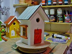 Houten Nestkastje, Nestkastje  met speciaal raam en deur, Details, Vogelhuisje bouwen ,  vogelhuisje met speciaal raam en deur_1