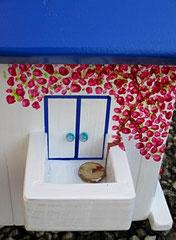 Houten Nestkastje, Nestkastje met Balkon, Details, Vogelhuisje bouwen, vogelhuisje met balkon_8