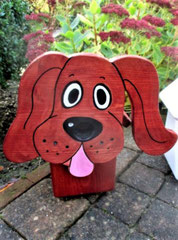 Houten Nestkastje Hond, donker bruin, Details, Vogelhuisje bouwen, het eindresultaat