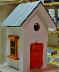 Houten Nestkastje, Nestkastje  met speciaal raam en deur, Details, Vogelhuisje bouwen ,  vogelhuisje met speciaal raam en deur_2