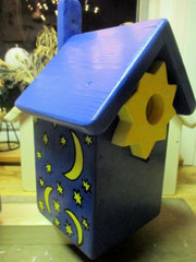 Houten Nestkastje, Nestkastje  De Maan, Details, Vogelhuisje bouwen ,  vogelhuisje de maan