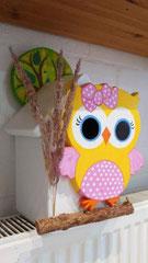 houten nestkastje beschilderd baby_ uil  vogelhuisje uniek speciaal_2