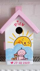 houten nestkastje geboorte baby cadeau-2