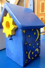 Houten Nestkastje, Nestkastje  De Maan, Details, Vogelhuisje bouwen ,  vogelhuisje de maan_2