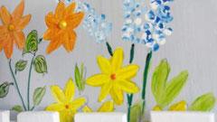 houten nestkastje beschilderd bloemen hekje naam persoonlijk_5