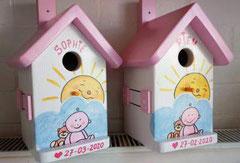 houten nestkastje geboorte baby cadeau