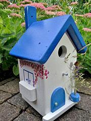 Houten Nestkastje, Nestkastje met Balkon, Details, Vogelhuisje bouwen, vogelhuisje met balkon