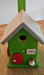 houten nestkastje verjaardag cadeau groen