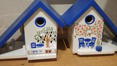 houten nestkastje beschilderd bistrootje Grieks pindakaas pothouder_2