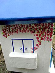 Houten Nestkastje, Nestkastje met Balkon, Details, Vogelhuisje bouwen, vogelhuisje met balkon_11