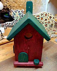 Houten Nestkastje, Nestkastje met Luipaard, Details, Vogelhuisje bouwen, vogelhuisje met luipaard_3