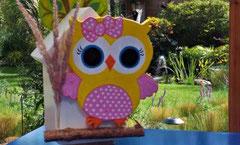 houten nestkastje beschilderd baby_ uil  vogelhuisje uniek speciaal_1