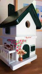 houten nestkastje beschilderd naam eigen huis persoonlijk