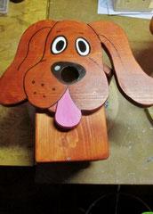 Houten Nestkastje Hond, donker bruin, Details, Vogelhuisje bouwen_2