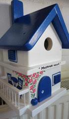 houten nestkastje Grieks huisje bougainville balkon_5
