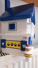 houten nestkastje beschilderd Grieks huis Bakery persoonlijk_6