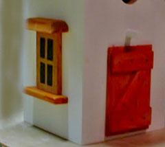 Houten Nestkastje, Nestkastje  met speciaal raam en deur, Details, Vogelhuisje bouwen ,  vogelhuisje met speciaal raam en deur_4