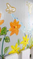 houten nestkastje beschilderd bloemen hekje naam persoonlijk_4