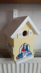 houten nestkastje beschilderd kabouters_1