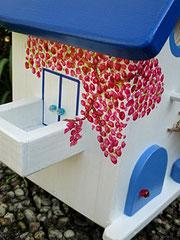 Houten Nestkastje, Nestkastje met Balkon, Details, Vogelhuisje bouwen, vogelhuisje met balkon_7