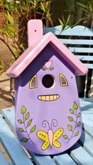 houten nestkastje beschilderd pastelkleuren_2