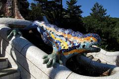 Brunnenfigur im Parc Güell
