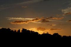 Toskanischer Sonnenuntergang