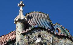 Das Dach der Casa Batlló von Gaudi