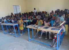 Kids at school in Mali