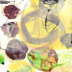 green experiments II, 30x30 cm, Mischtechnik auf Holzkörper , Iris Lehnhardt 2015