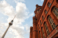 Berlin - Fernsehturm Rotes Rathaus
