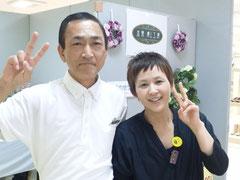 2012/06/24(土)  あけのアクロスタウン出張癒し工房第8日目、クイックマッサージのSEIJI&YUMIです