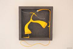Bois, béton, fil de fer, papier, soudure - 30/30 cm (atelier)