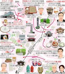 東京どんぶらこ イラストマップ 神谷町