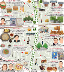 東京どんぶらこ イラストマップ 阿佐ケ谷