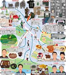 東京どんぶらこ イラストマップ 京王多摩川 角川大映スタジオ