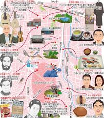 東京どんぶらこ イラストマップ 落合