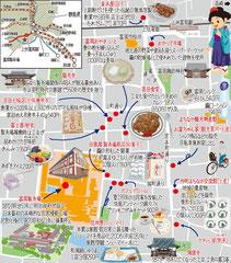東京どんぶらこ イラストマップ 富岡製糸場