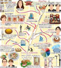 東京どんぶらこ イラストマップ 自由が丘