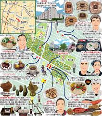東京どんぶらこ イラストマップ 滝山団地