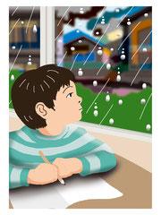 イメージ カット 雨の日 子供
