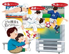 スポーツ オリンピック観戦 水泳 柔道 サッカー