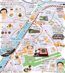 東京どんぶらこ イラストマップ 飯田橋